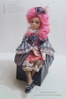 Colombina. Needle felted doll by LanaIncantata