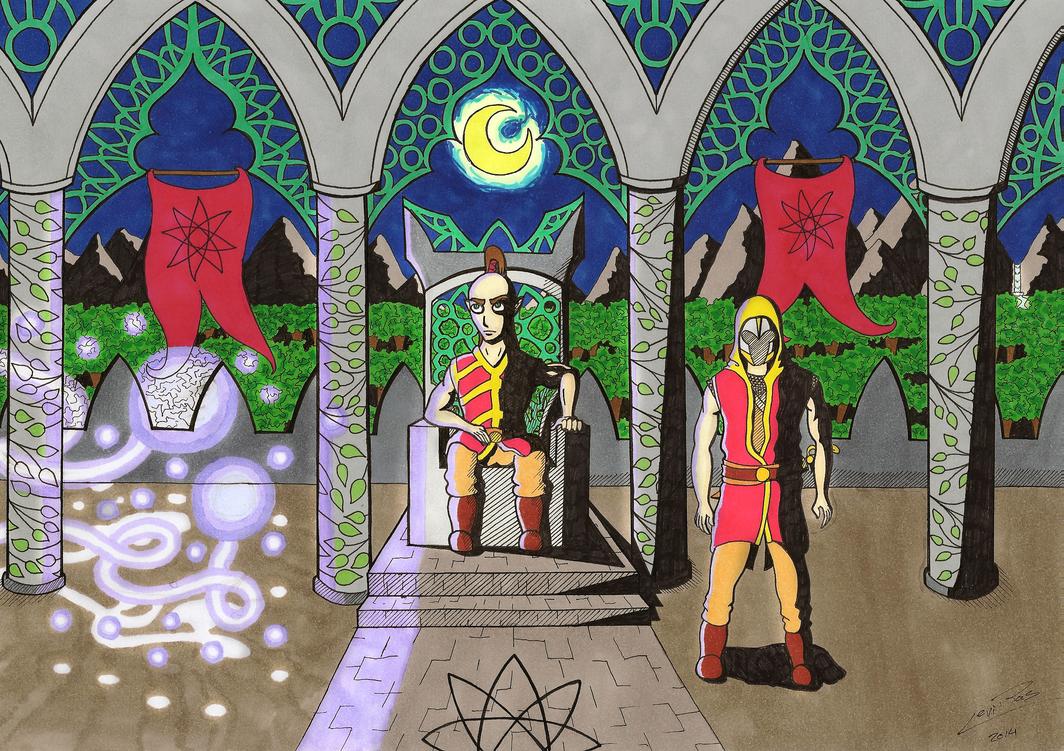 Elven Throne Room by InryDanmaku