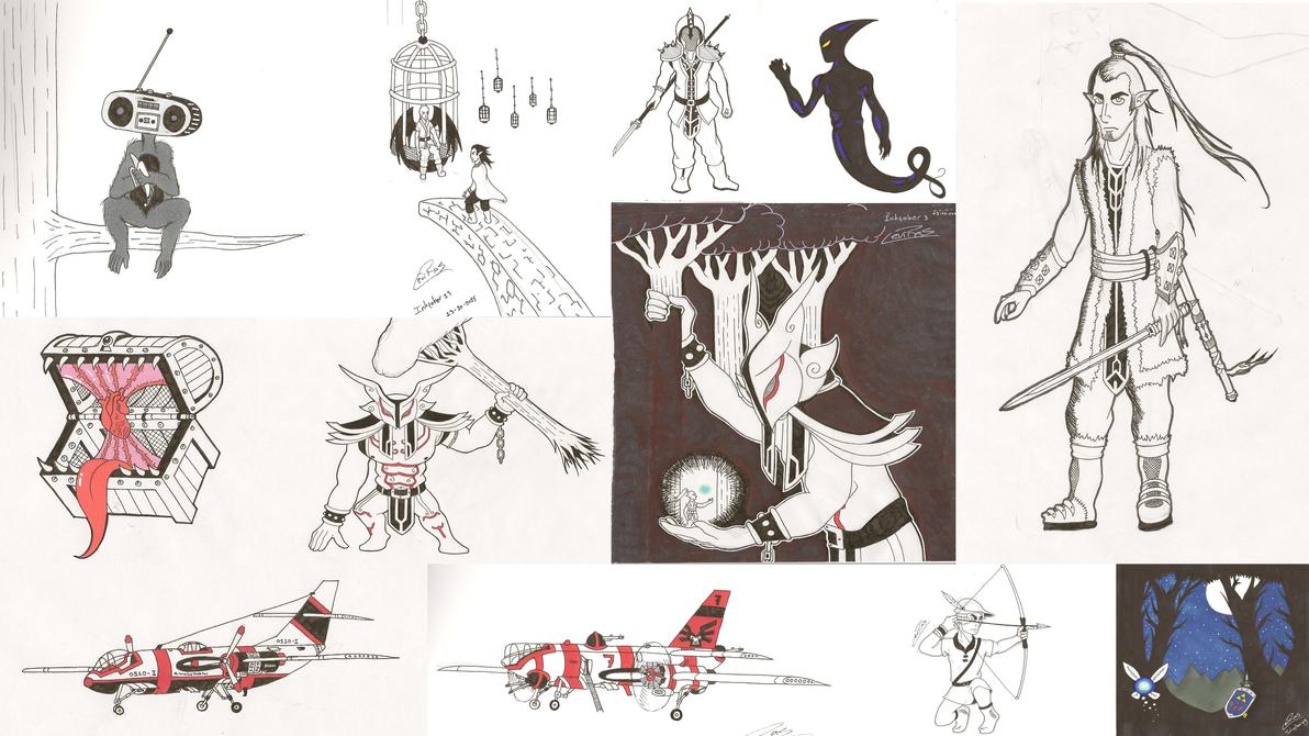 Inktober 2015 (Part 1) by InryDanmaku