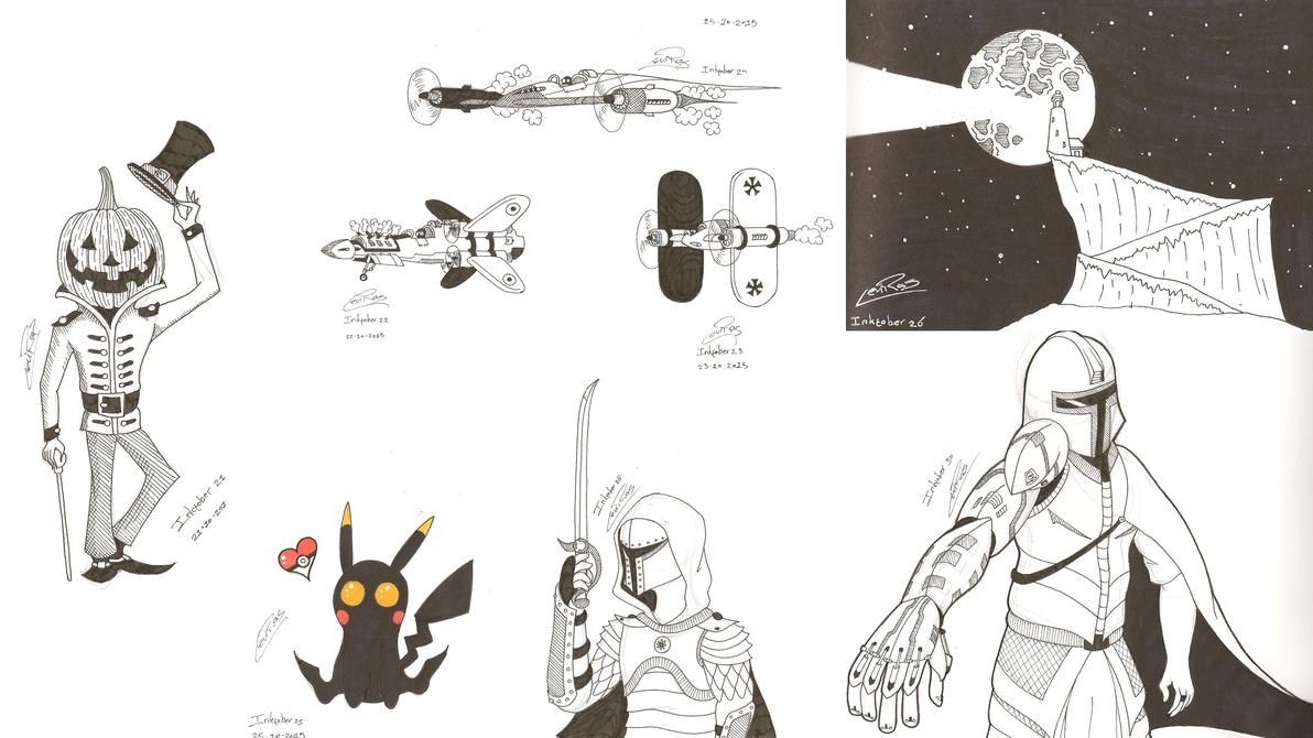 Inktober 2015 (Part 3) by InryDanmaku