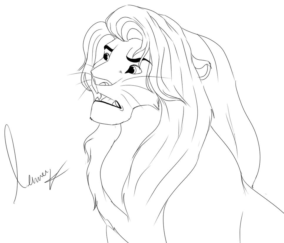 Line Art Of Lion : Free male lineart by dynamix on deviantart