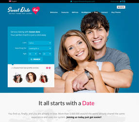 Sweet Date - WordPress Dating Theme by cmsthemes