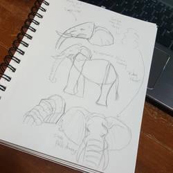 Aaron Blaise Elephant Study by TroilusMaximus
