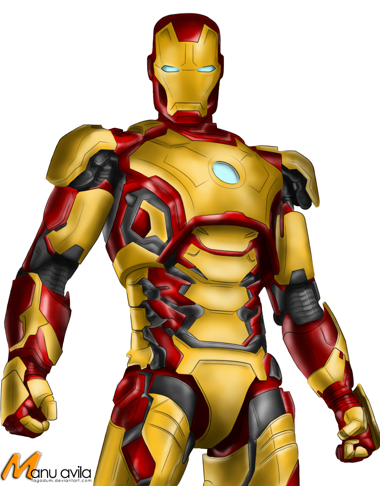 iron man mark 42 colored by tagadum