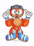 Sonic BOOM! Ray the flying squirrel by MightyRay