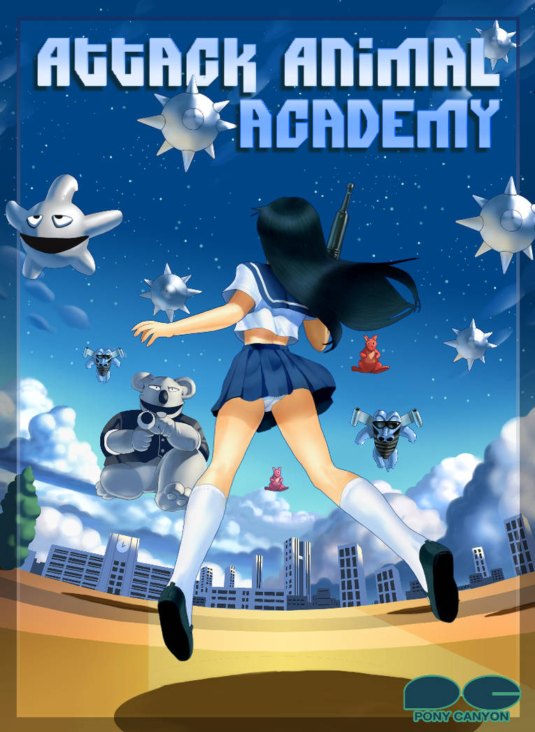 Attack Animal Academy Fan Cover by fonzi9864