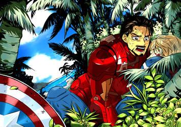 Marvel : Movie Steve/Tony by daki00