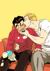 Marvel : EMH Steve/Tony by daki00