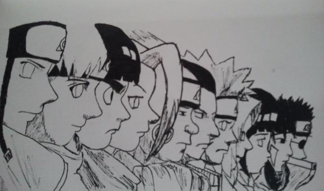 Naruto Character Layers By Foreversasunaru