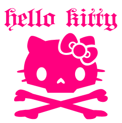 Hello Kitty Skull by furiousfelinefuries