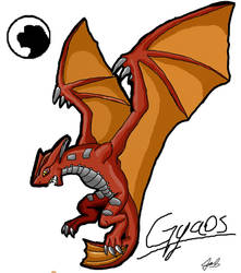 godzilla animated: Gyaos by Blabyloo229