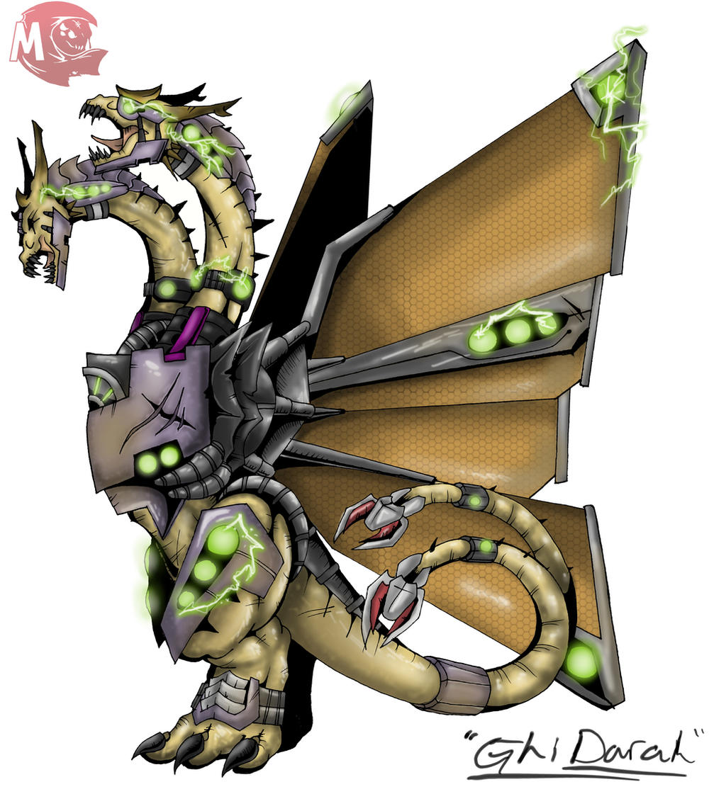 Kaiju Wars: Mecha Ghi-Darah by Blabyloo229