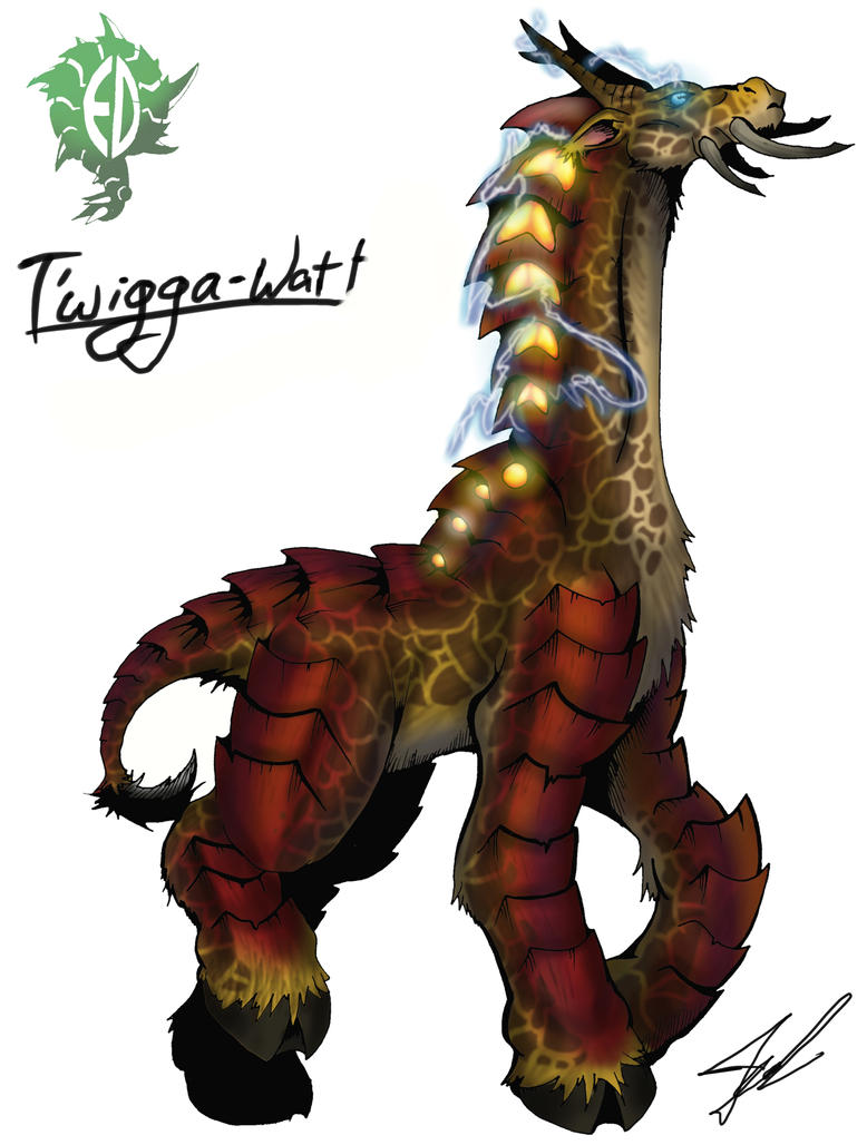 Kaiju Wars: T'wigga-Watt by Blabyloo229