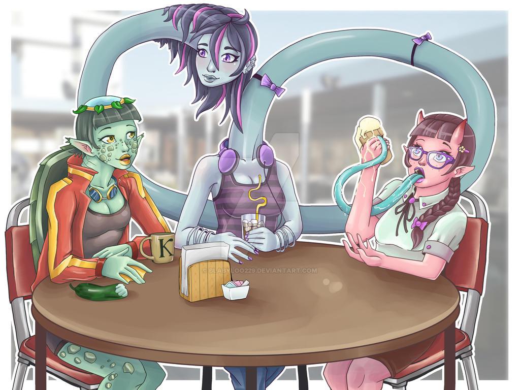 Commission: Yokai Girls by Blabyloo229