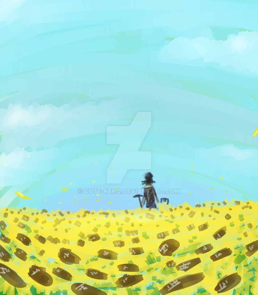 sunflower fields by cute-neko