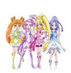 DokiDoki Pretty Cure - New Stage 2 Poses