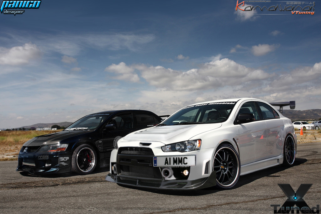 evo x vs evo VIII by mateus12345