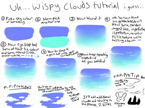 Wispy cloud tutorial