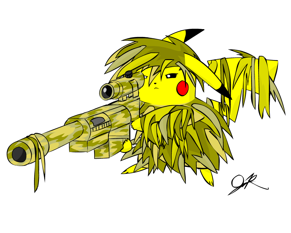 Ghillie Sniper Pikachu by NeoPikachu on DeviantArt