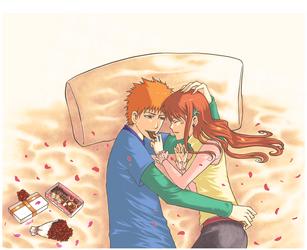 valentine day kiss :ichihime: by akaibelier