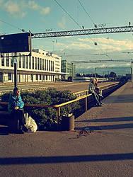 Train station by powerpuff768
