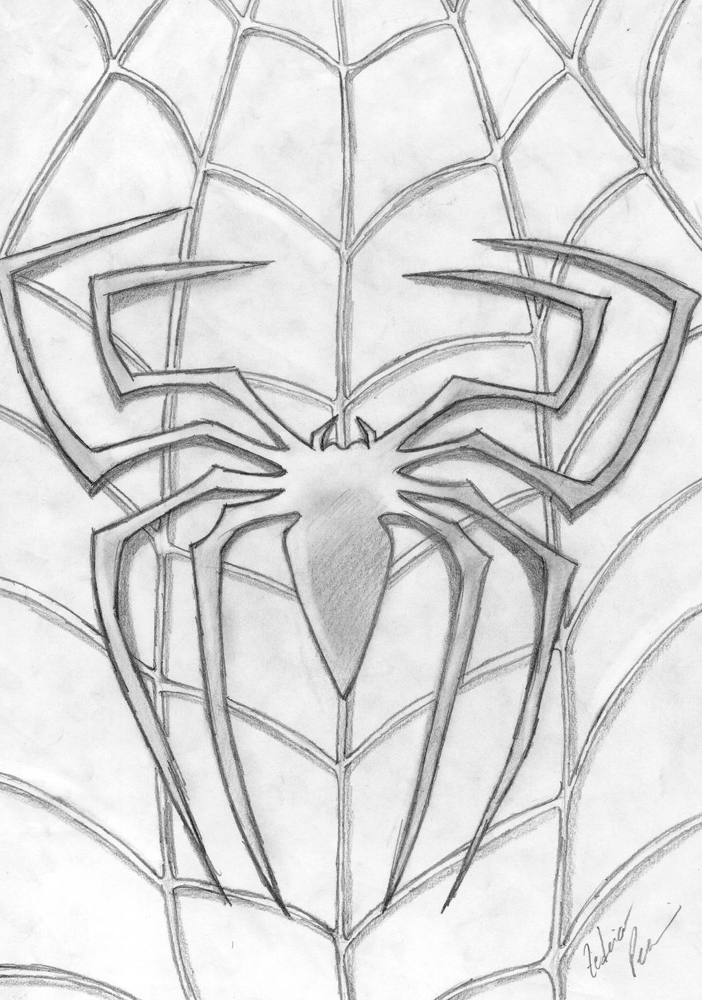 Spider man 3 logo by malki0r on deviantart for Spiderman 3 coloring pages
