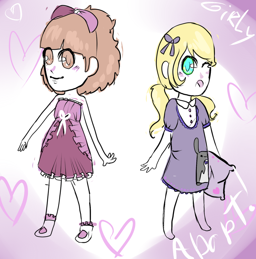 Girly adoptables xP by ixpipoca