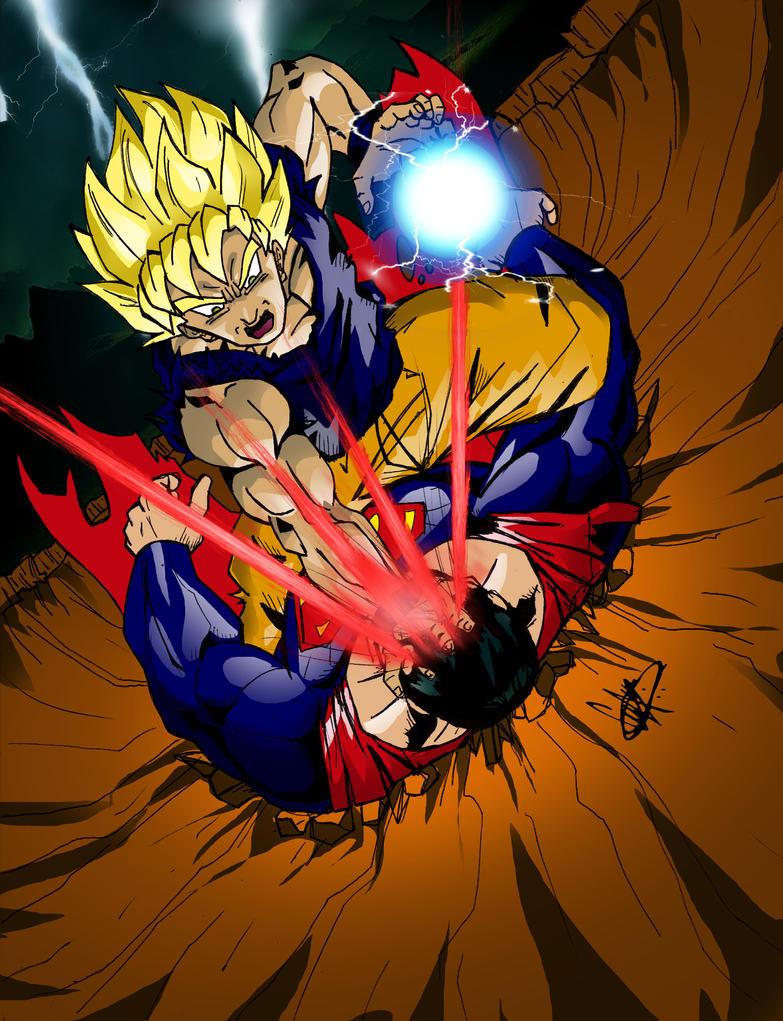 goku vs superman by sonicmanx on DeviantArt