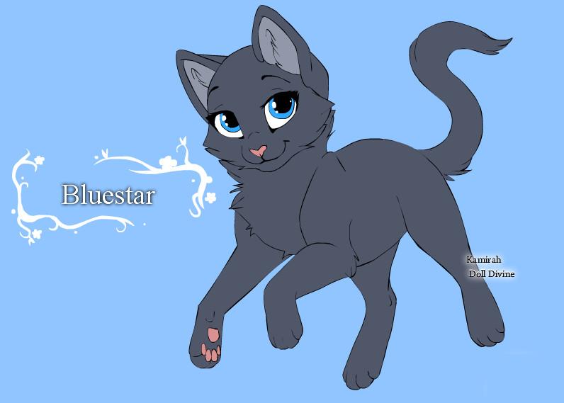 Warrior Cats Character Design templates Bluestar by ... Warrior Cat Drawings Bluestar