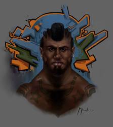 Gangsta portrait by TheShock