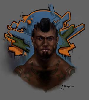 Gangsta portrait