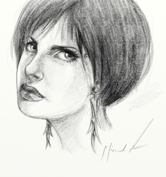Girl Sketch ArtRage by TheShock
