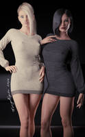 Anya And Megan Together by forged3DX