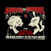 Zombies vs Vampires by paulorocker
