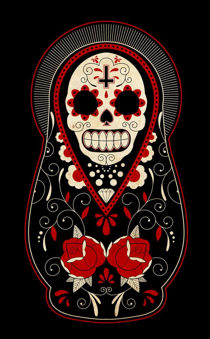 Day Of The Dead Russian Dolls By Paulorocker On DeviantArt