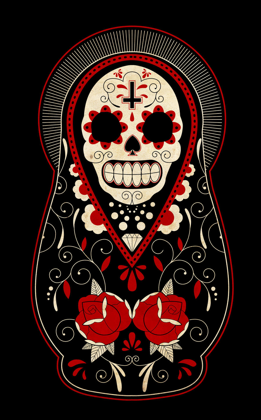 Day of the Dead Nesting Russian Dolls