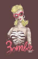 Zombie Barbie by paulorocker