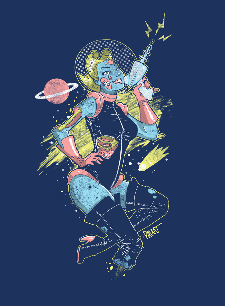 Space Zombie by paulorocker