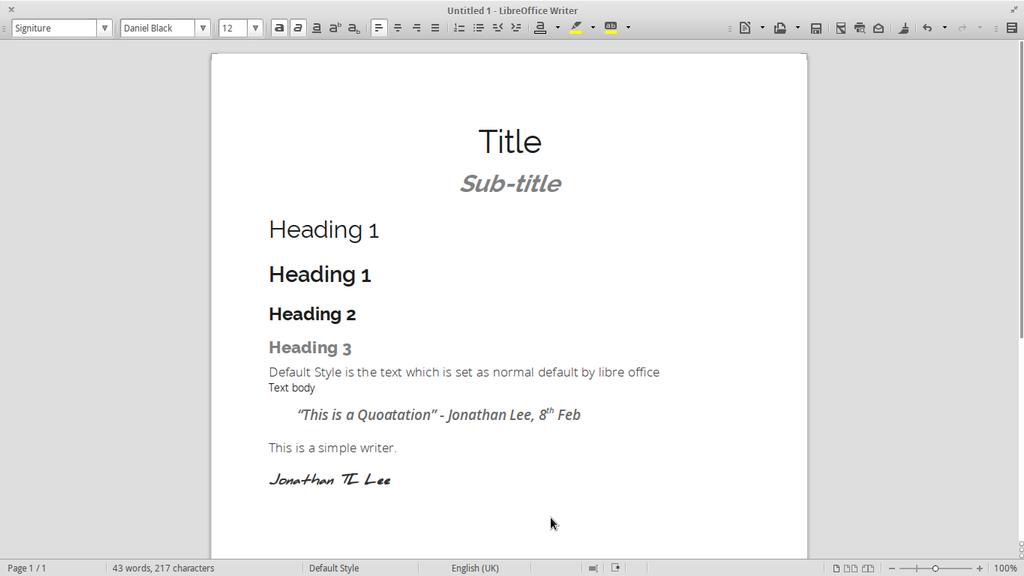 LibreOffice Writer by JLee182