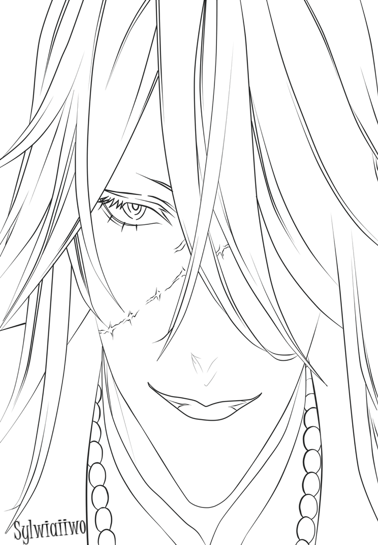 the gallery for black butler coloring pages