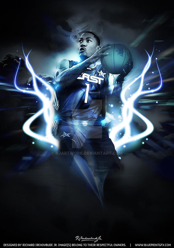 Derrick Rose All Star By Rjartwork