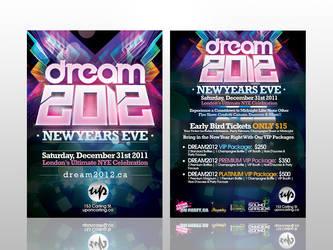Dream 2012 Flyer by rjartwork