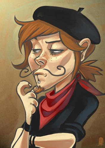 I've moustache as an artists by Lelia