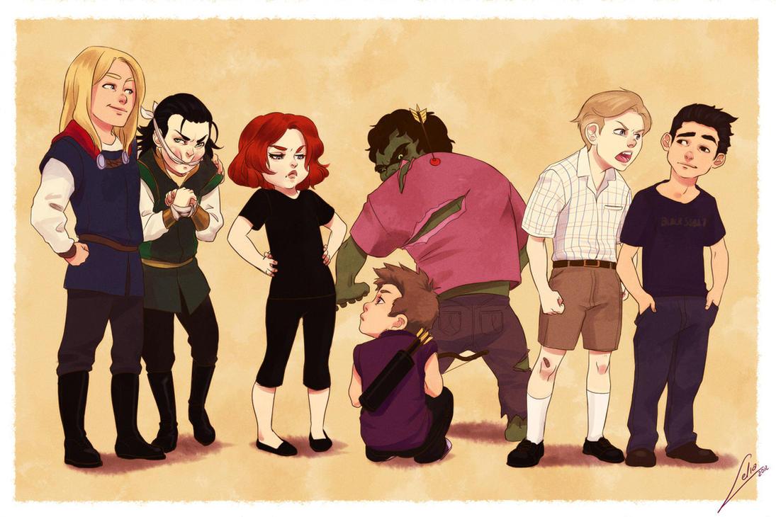 Little Avengers by Lelia