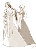 Commission: Odelyne and Nadine by Lelia