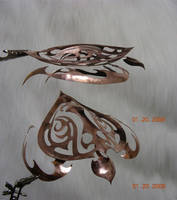 Copper Tribal Sea Turtle by joharasaluki