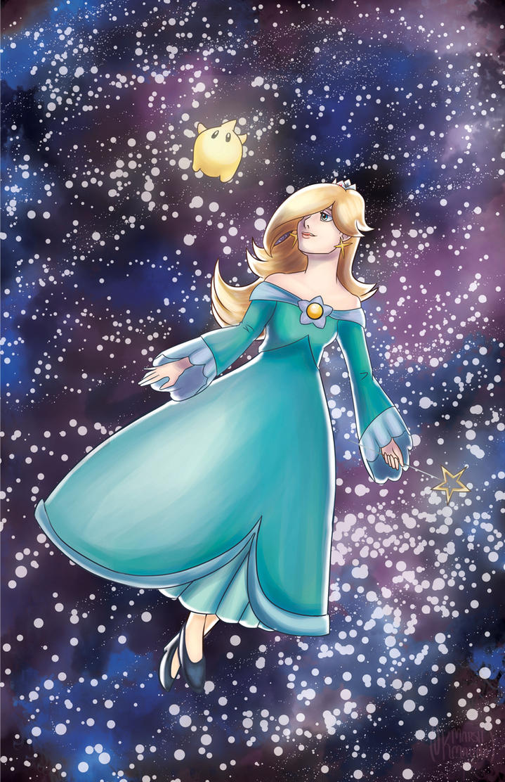 Rosalina and Luma by Fallen-Lunar-Shaman