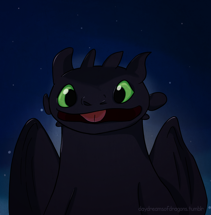Toothless says hello by LittleAngel1