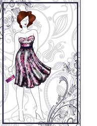 Dress Presentation sketch by Jivka