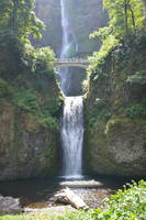 Bridge of Multnomah Falls in Oregon by A1Z2E3R